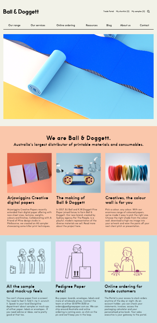 photo about Printable Company Limited named Ball Doggett Release their Refreshing Website|Japan Pulp Paper